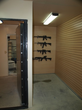 walk in gun vault