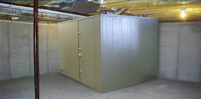 Safe rooms storm shelters gun vaults modular vault for Walk in safes for homes